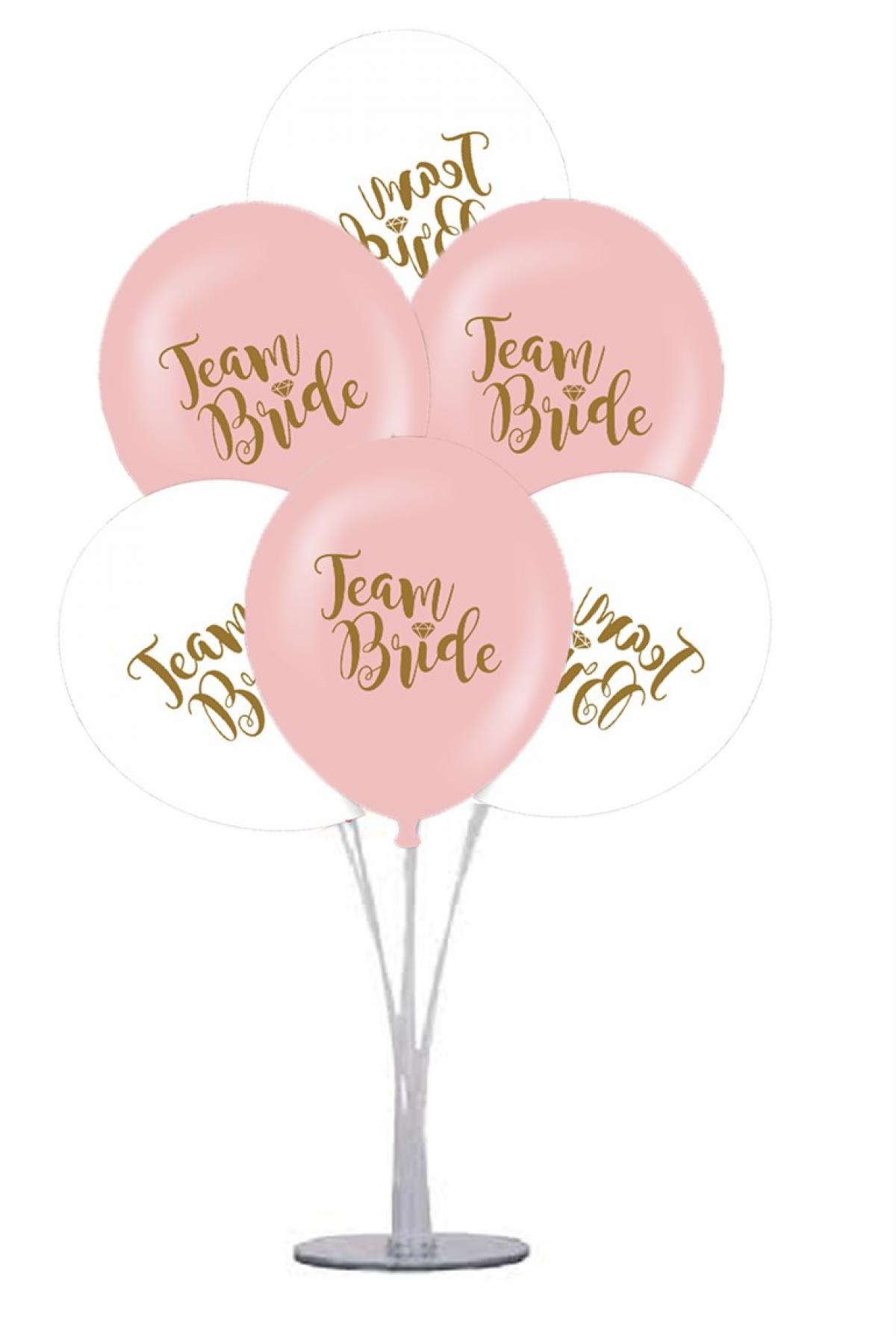 7 li Balon Demeti Team Bride Balon