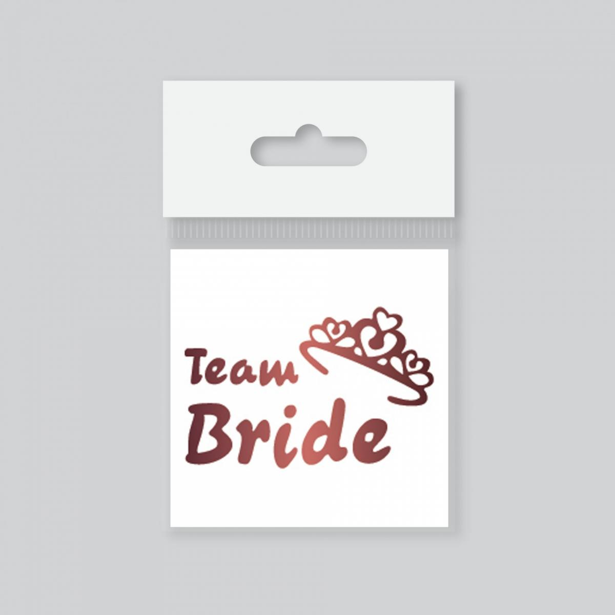 Dövme Team Bride Taçlı Rose Gold