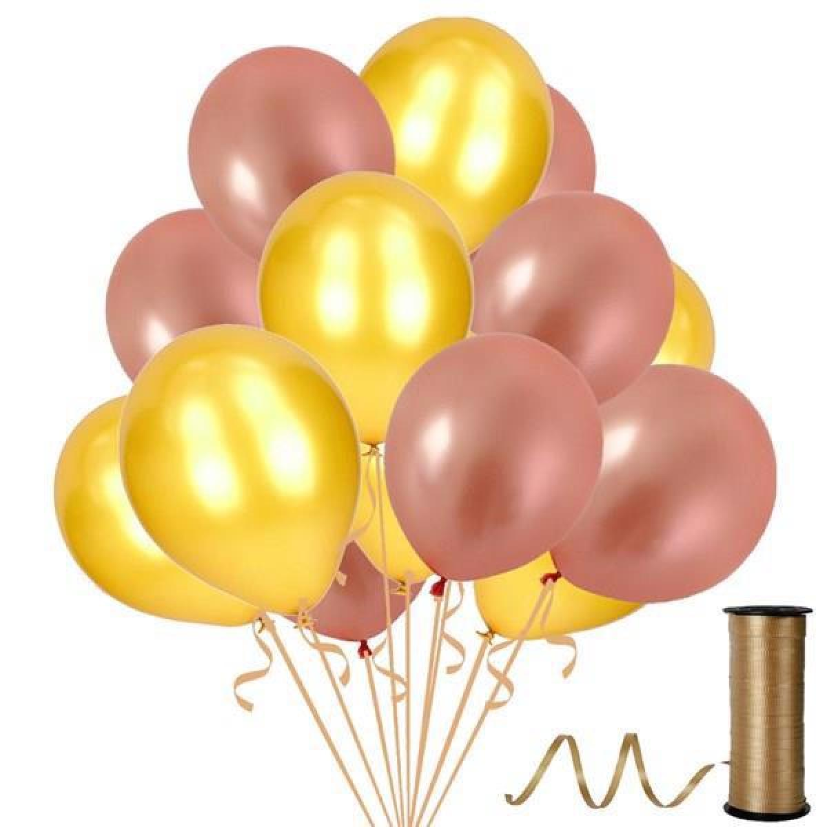 Metalik Rose Gold ve Gold Balon