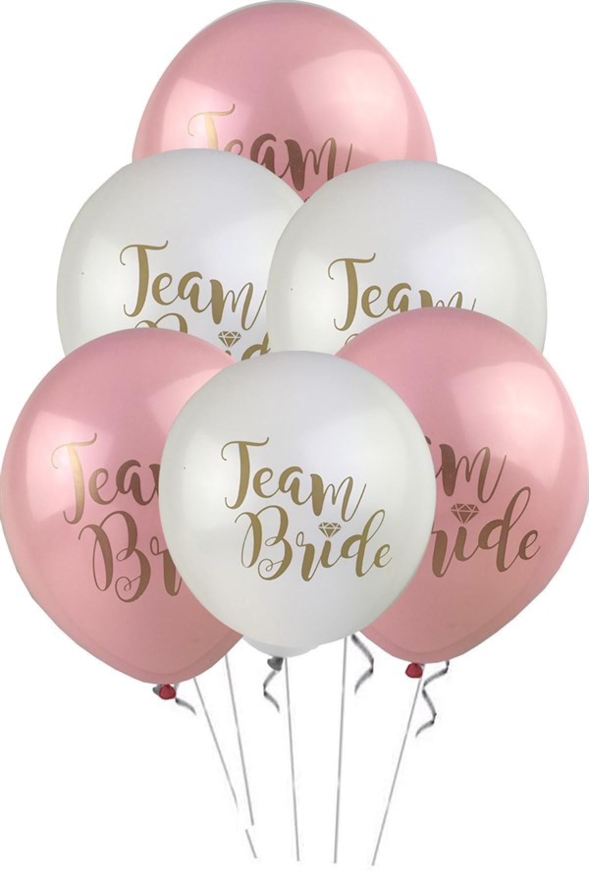 Team Bride Temalı Baskılı Lateks Balon
